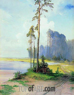Summer Landscape. Pines, c.1880 | Alexey Savrasov | Painting Reproduction