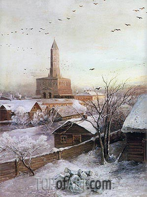 The Sukharev Tower in Moscow, 1872 | Alexey Savrasov | Painting Reproduction