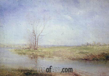 Spring, c.1870 | Alexey Savrasov | Painting Reproduction