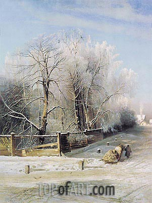 Winter Landscape, 1873 | Alexey Savrasov | Painting Reproduction
