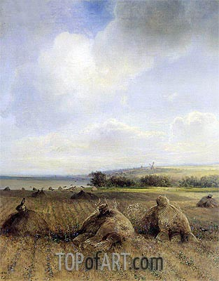By the End of the Summer on Volga, 1873 | Alexey Savrasov | Gemälde Reproduktion