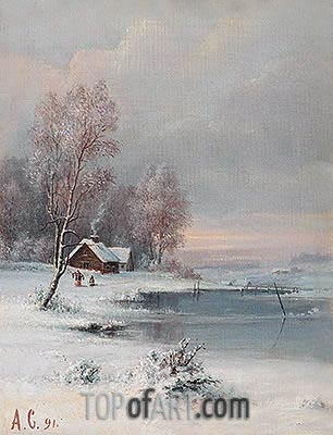 Coast during Winter, 1891 | Alexey Savrasov | Painting Reproduction