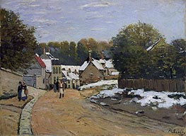 Early Snow at Louveciennes, c.1870/71 by Alfred Sisley | Painting Reproduction