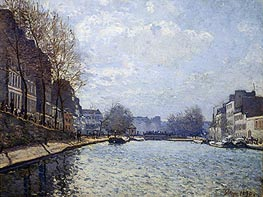 View of the Canal St. Martin, 1870 von Alfred Sisley | Gemälde-Reproduktion