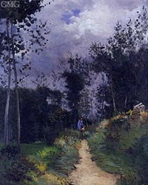 Rural Guardsman in the Fontainebleau Forest, 1870 von Alfred Sisley | Gemälde-Reproduktion