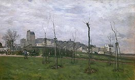 View of Montmartre from the Cite des Fleurs, 1869 by Alfred Sisley | Painting Reproduction