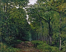 Avenue of Chestnut Trees near La Celle-Saint-Cloud, 1867 by Alfred Sisley | Painting Reproduction