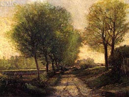 Lane near a Small Town | Alfred Sisley | Painting Reproduction