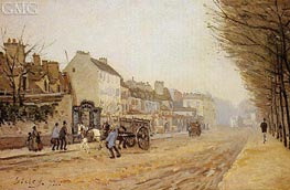 Boulevard Heloise, Argenteuil, 1872 by Alfred Sisley | Painting Reproduction