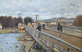 Footbridge at Argenteuil, 1872 by Alfred Sisley | Painting Reproduction
