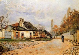 Neighborhood Street in Louveciennes | Alfred Sisley | Painting Reproduction