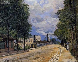 The Road from Gennevilliers, 1872 by Alfred Sisley | Painting Reproduction
