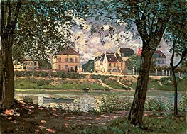 Villeneuve-la-Garenne (Village on the Seine), 1872 by Alfred Sisley | Painting Reproduction