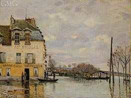 Flood at Port-Marly, 1872 von Alfred Sisley | Gemälde-Reproduktion
