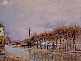 The Flood at Port-Marly, 1872 by Alfred Sisley | Painting Reproduction