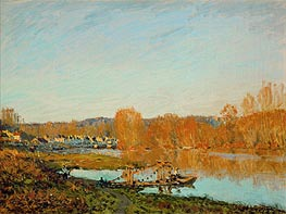 Autumn - Banks of the Seine near Bougival | Alfred Sisley | Painting Reproduction