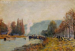 The Seine at Bougival, 1873 by Alfred Sisley | Painting Reproduction