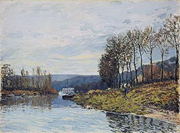 The Seine at Bougival | Alfred Sisley | Gemälde Reproduktion