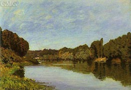 The Seine at Bougival | Alfred Sisley | Painting Reproduction