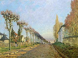 Rue de la Machine, Louveciennes | Alfred Sisley | Painting Reproduction