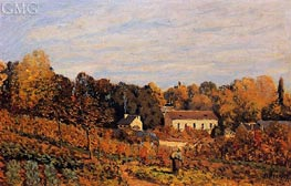 Kitchen Garden at Louveciennes | Alfred Sisley | Painting Reproduction