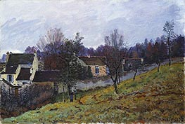 Autumn at Louveciennes, 1873 von Alfred Sisley | Gemälde-Reproduktion