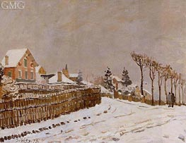 Snow at Louveciennes, 1873 von Alfred Sisley | Gemälde-Reproduktion