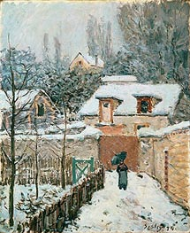 Snow at Louveciennes, 1874 von Alfred Sisley | Gemälde-Reproduktion