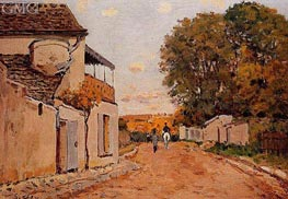 Street in Louveciennes (Rue de la Princesse) | Alfred Sisley | Painting Reproduction