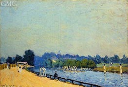 The Road from Hampton Court, 1874 von Alfred Sisley | Gemälde-Reproduktion