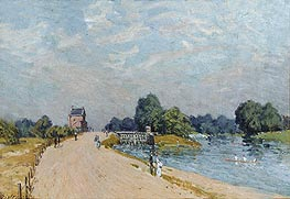 The Road to Hampton Court | Alfred Sisley | Painting Reproduction