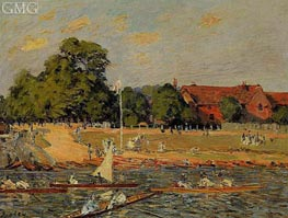 Retatta at Hampton Court | Alfred Sisley | Painting Reproduction