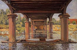 Under the Bridge at Hampton Court | Alfred Sisley | Painting Reproduction