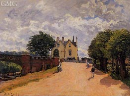 Inn at East Molesey with Hampton Court Bridge | Alfred Sisley | Painting Reproduction