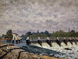 Molesey Weir Hampton Court | Alfred Sisley | Painting Reproduction