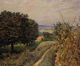 Among the Vines | Alfred Sisley | Painting Reproduction
