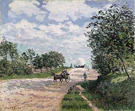 The Road to Nantes at Choisy le Roy | Alfred Sisley | Painting Reproduction