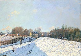 Effect of Snow at Argenteuil, 1874 von Alfred Sisley | Gemälde-Reproduktion
