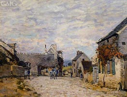 Village Street, Louveciennes, 1874 by Alfred Sisley | Painting Reproduction