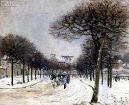 The Road to Saint-Germain at Marly, c.1874/75 von Alfred Sisley | Gemälde-Reproduktion