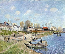Sand on the Quayside, Port-Marly, 1875 von Alfred Sisley | Gemälde-Reproduktion