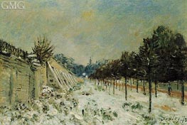 Snow at Marly-le-Roi, 1875 von Alfred Sisley | Gemälde-Reproduktion