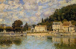 Horses Being Watered at Marly-le-Roi, 1875 von Alfred Sisley | Gemälde-Reproduktion