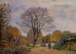 A Road in Seine-et-Marne | Alfred Sisley | Painting Reproduction