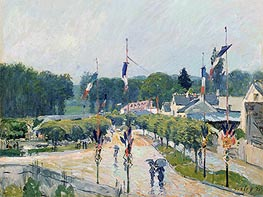Fourteenth of July at Marly-le-Roi, 1875 von Alfred Sisley | Gemälde-Reproduktion