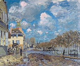 The Flood at Port-Marly, 1876 von Alfred Sisley | Gemälde-Reproduktion