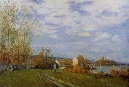 The Banks of the Saine at Bougival, 1876 von Alfred Sisley | Gemälde-Reproduktion