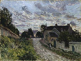 A Small Street in Louveciennes, 1876 von Alfred Sisley | Gemälde-Reproduktion