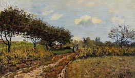 The Path in the Country | Alfred Sisley | Gemälde Reproduktion