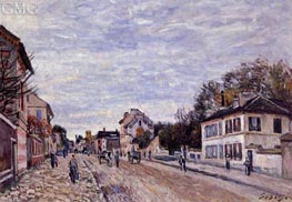 Street Scene in Marly | Alfred Sisley | Painting Reproduction
